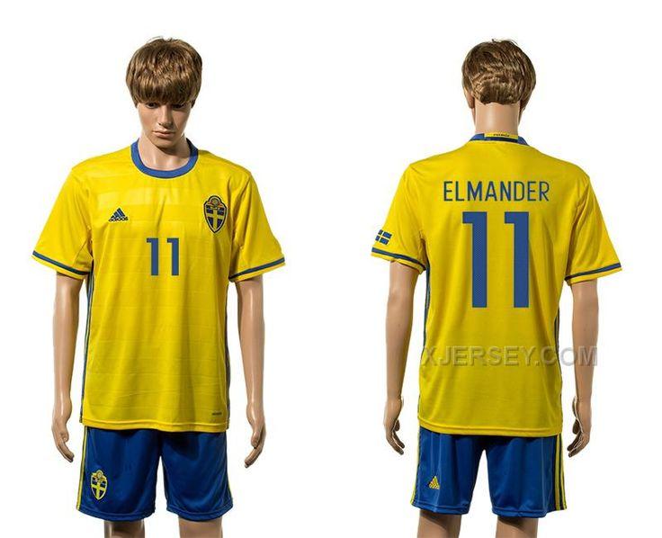 http://www.xjersey.com/sweden-11-elmander-home-euro-2016-jersey.html Only$35.00 SWEDEN 11 ELMANDER HOME EURO #2016 JERSEY #Free #Shipping!