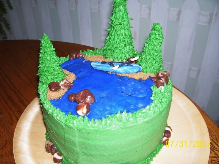 kayak cake | Kayaking Cake