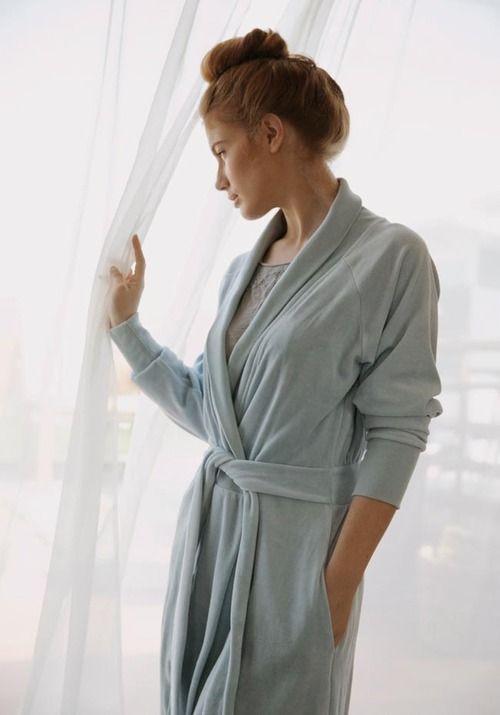 soft blue robe