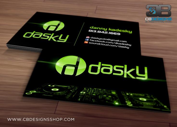 DJ Dasky - Business Card Design | www.cbdesignsshop.com