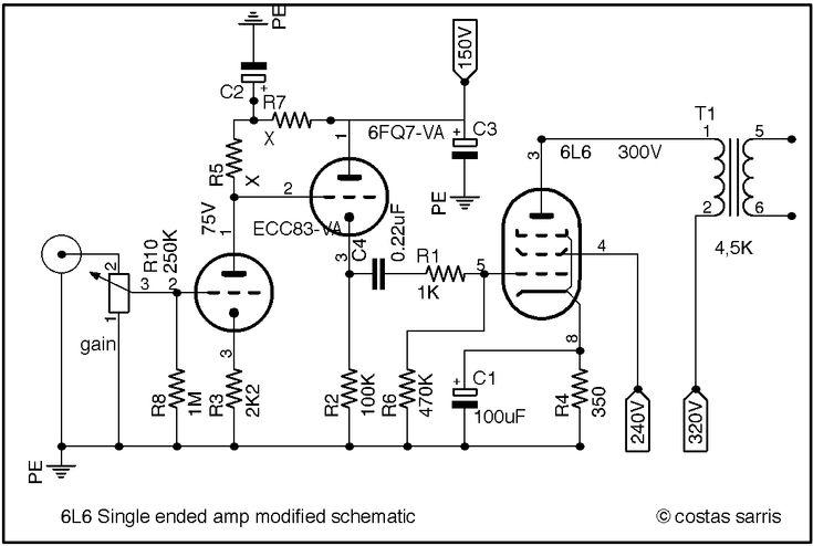 6l6 audio se modified schematic