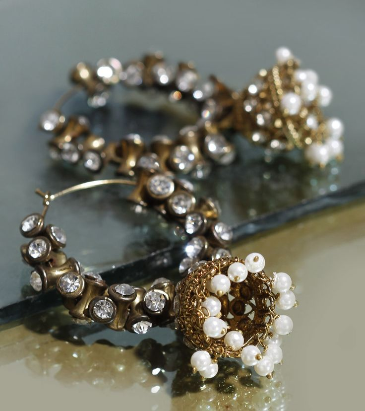 Embellished Jhumki Earrings