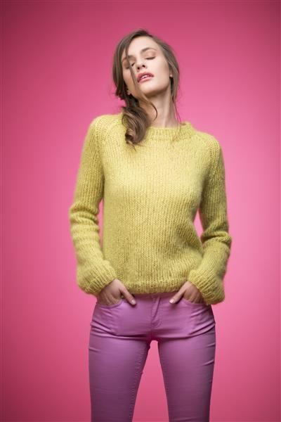 1503: Modell 3 Kort genser #strikk #knit #fashion #mohair