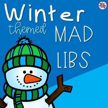 "Winter is in the air, and your students will love this ""COOL"" parts of speech activity! Use this fun winter-themed Mad Libs activity to help your students learn or review nouns, verbs, and adjectives. You could use it as a fun activity, as morning work, as center"