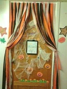 pumpkin school door door from the halloween door decorating contest pumpkin - Cute Halloween Door Decorating Ideas