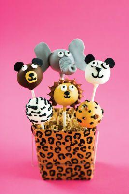 Cute for Kids birthday...Zoo/Safari cake pops