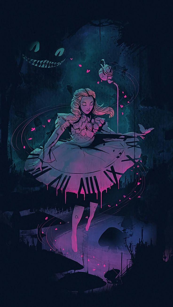 Alice in Wonderland artwork – #Alice #artwork #wallpers #Wonderland – Psychedelic art
