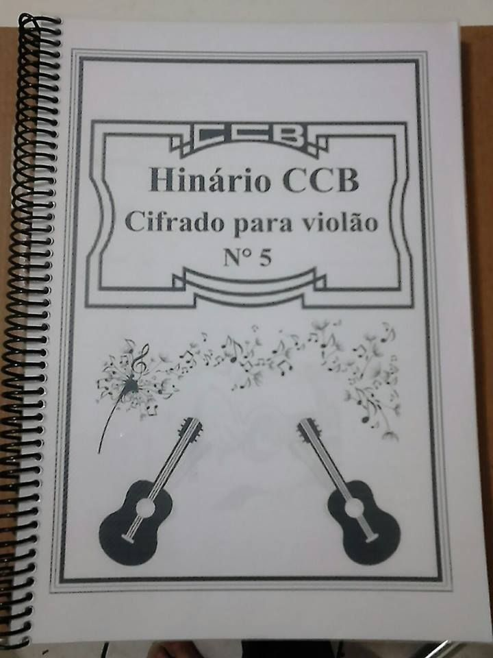 Hinário CCB 5 (Cifrado para violão) SUPER PROMOÇÃO! POUCAS UNIDADES!!*