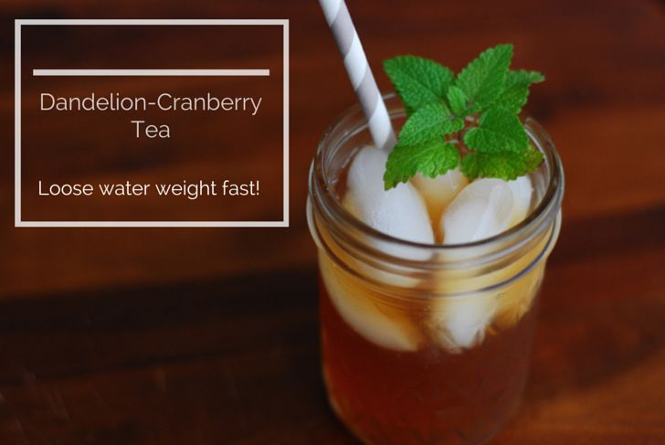 Lose Water Weight with Dandelion-Cranberry Tea