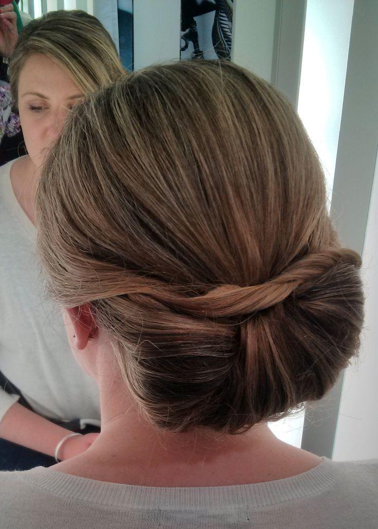 elegant bow style bun for medium hair