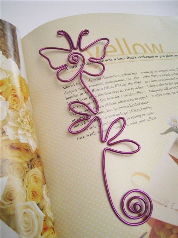 Wire art bookmark butterfly ~ would make a great gift!