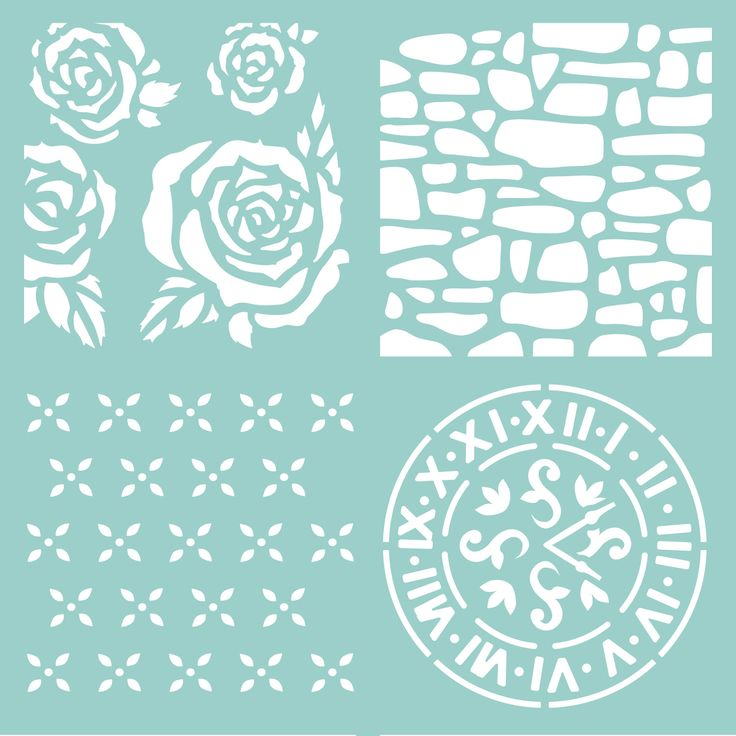 KC 12x12 Floral Template - T628, Simply Creative ScanNCut - stencils Pinterest Creative ...