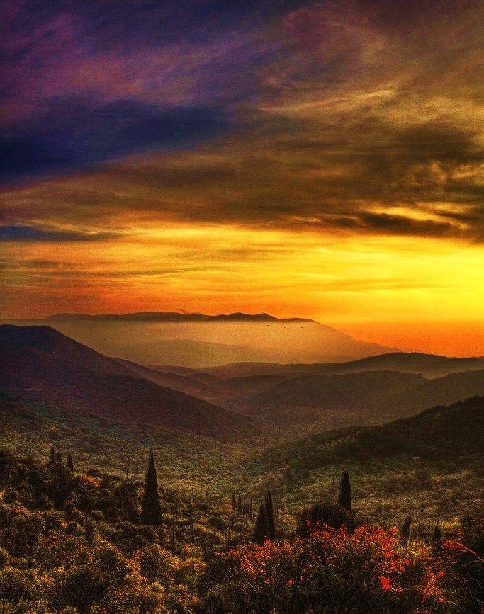 Taygetos Mountain, Peloponnese, Greece.