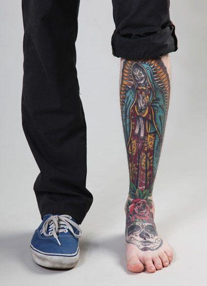 Virgen De Guadalupe #sugar #skull #Tattoo - Click image to find more Art Pinterest pins