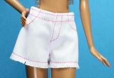 Barbie Blanco Rosa Mini Pantalones Cortos 2016 Fashionistas Modelo Barbie