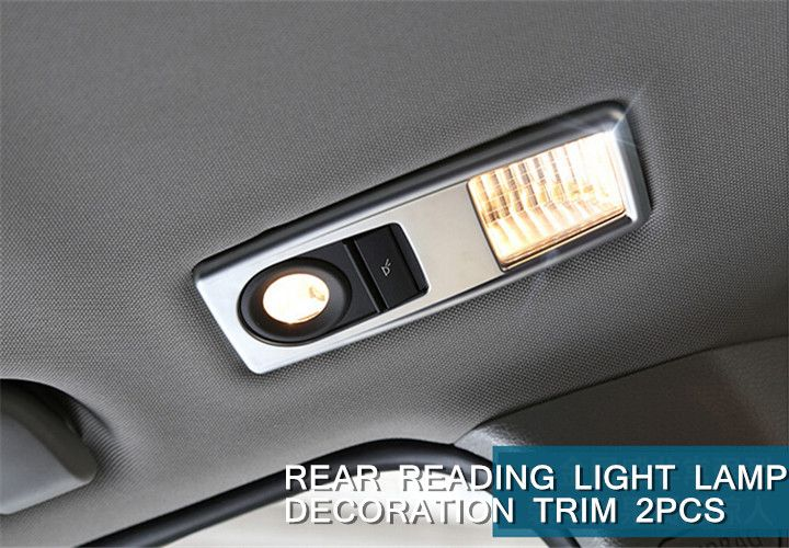 FOR BMW X3 F25 2011 - 2015 Stainless Steel Interior Rear Reading Light Lamp Cover Trim 2pcs Glossy  NEW Arrival !