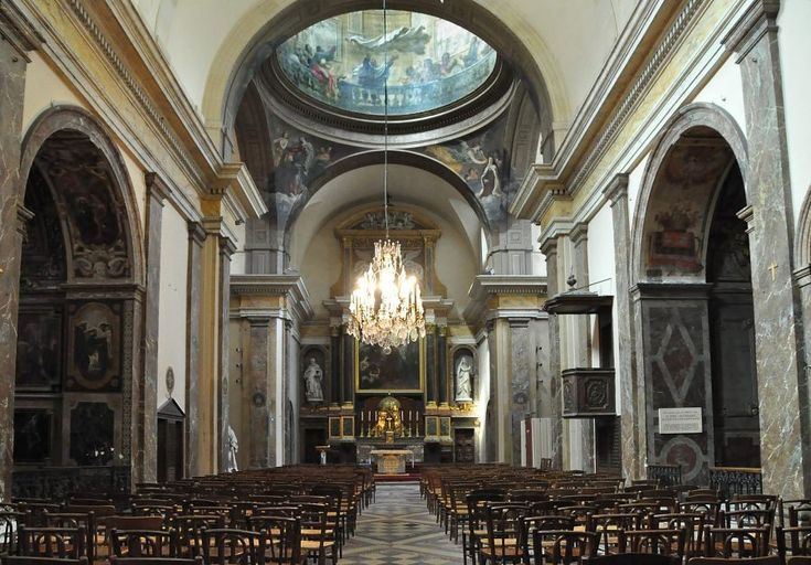 The beautiful interior of St.-Joseph-des-Carmes in Paris.