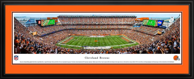 Cleveland Browns Panoramic Picture - First Energy Stadium Picture Framed