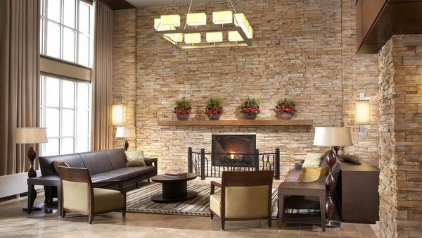 airstone design ideas living room stone wall fireplace surround ideas