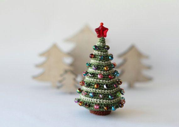 CUSTOM ORDER. Set of TWO Christmas Tree, Crocheted Christmas Tree, Christmas…