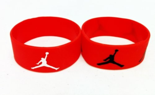 Set of 2 Michael Jordan Wristband Sport Silicone Bracelet Jumpman Logo Red & Black and Red & White - http://www.nbamixes.com/set-of-2-michael-jordan-wristband-sport-silicone-bracelet-jumpman-logo-red-black-and-red-white - http://ecx.images-amazon.com/images/I/31c5aF22L4L.jpg