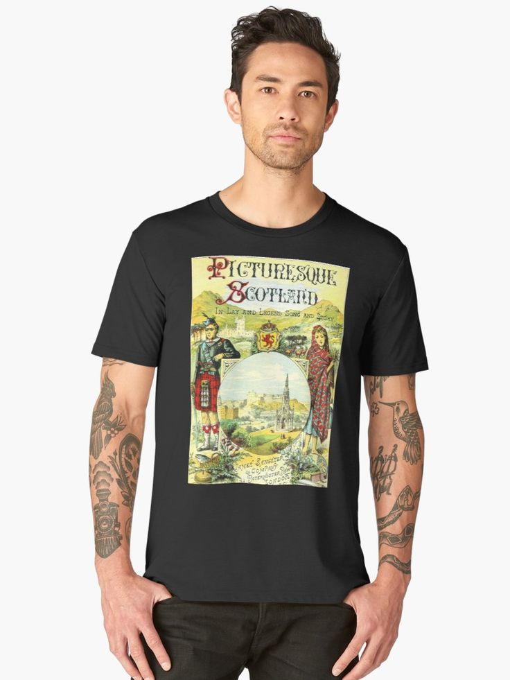 The beauty of Scotland is depicted in this illustration of the country side from the 1800s. • Also buy this artwork on apparel, stationery, and bags.