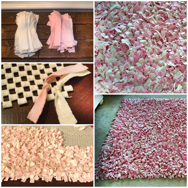 "Homemade Simple Rag Knot Shag Rug Project  Homesteading  - The Homestead Survival .Com     ""Please Share This Pin"""
