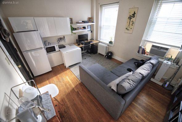 City Studio Apartment Tour 240 Sq Feet 500 Rent Video Tour