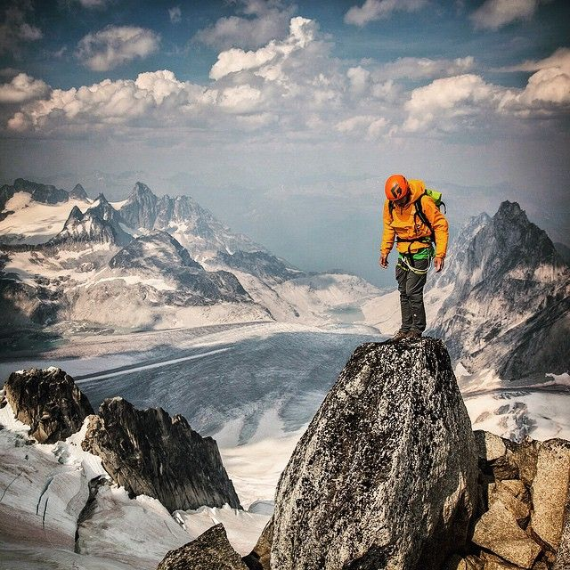 "Life on the edge. @alexhonnold contemplates the maxim ""the summit is only half way."" @LifeProof  #sponsor #LiveLifeProofm"