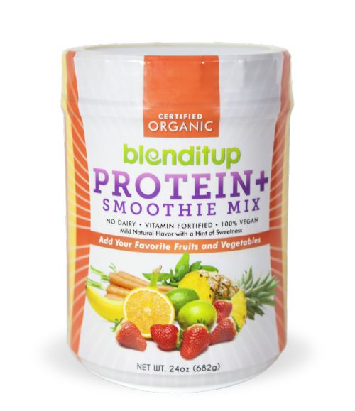 BlenditupProtein+ Smoothie MixReviewI'm not generally big on protein powder - I like to get my protein from plant based whole foods. But there are some days when smoothies are super convenient. I've tried a few different protein powder brands, and I have to say Blenditup is one of my favorites so far.The facts (2 scoops):> 120 calories,14 g protein,3 g fiber,2 g sugar> 30% calcium, 6% vitamin A, 25% vitamin C, 10% iron> vegan, organic, gmo-free, gluten-free and no added sugar> protein…
