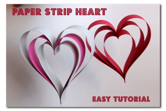 Paper Strip Hearts ~ Sugar Bee Crafts
