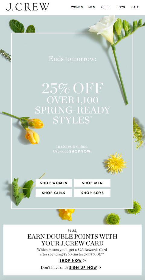 J Crew - Spring Sale
