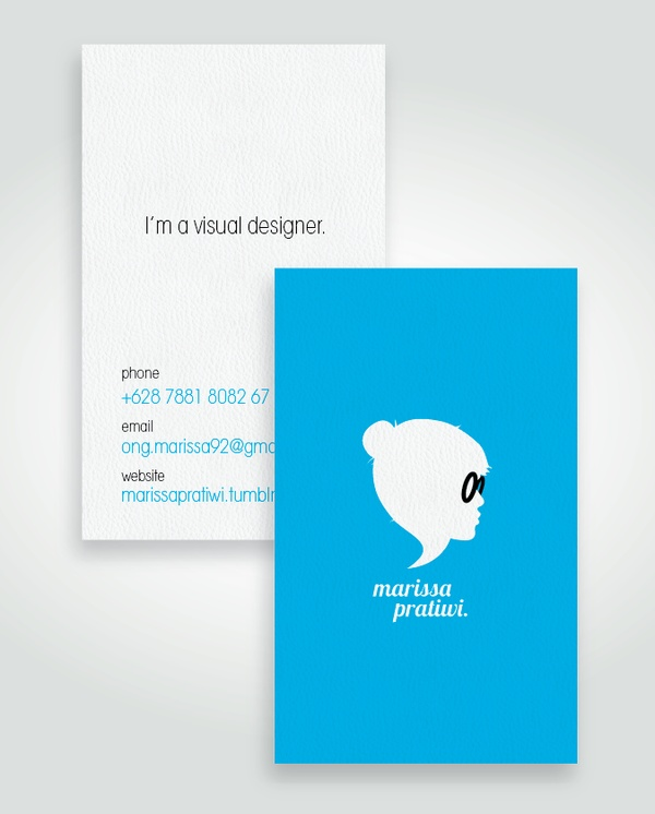 Self Branding by Marissa Pratiwi, via Behance