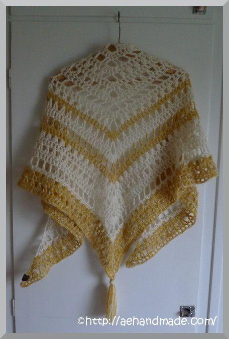 Virka en sjal. Gratis mönster på engelska.