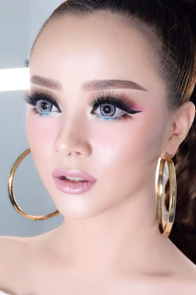 Asian Eyes Makeup Idea With Black Eyeliner #blackeyeliner How to get Asian  eyes bigger with makeup? We have useful tips how to apply eyeshadow and  eyeliner ...