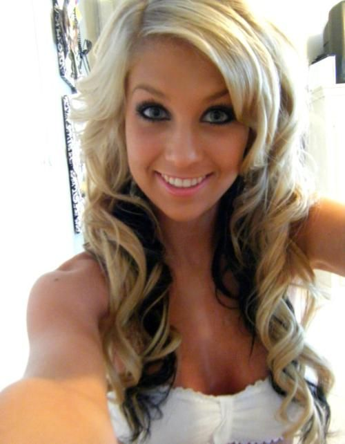 ♥Dark Underneath, Hair Ideas, Blondes Hair, Hair Colors, Hairmakeup, Long Hair, Hair Makeup, Hair Style, Brown Hair