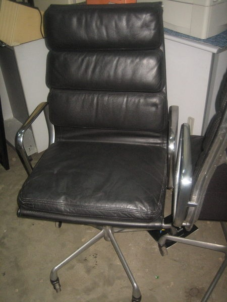 eames aluminum group armchair soft pad chair (herman miller). paid us $215