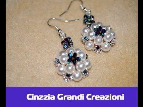Free DIY tut - Orecchini Rosetta con perle e cipollotti di cristallo