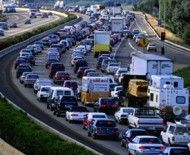 traffic jam on highway  BLOOD CLOTS