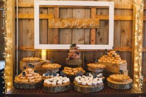 Barn reception sweets | Amanda Adams Photography | see more at http://fabyoubliss.com