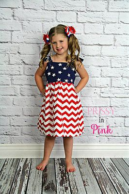 Girls 4th of July Outfit, Baby 4th of July Outfit, 4th of July Dress, FAST SHIP