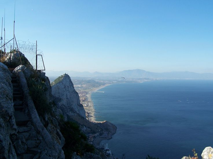 The Med side of Gib - it's further down than it looks. The Caletta Hotel visible near bottom of the picture too.