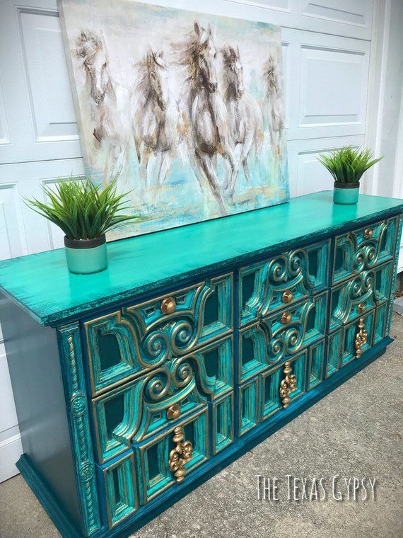 Texas Gypsy Style Modern Boho Dresser, Buffet, Credenza ... on hand carved buffet, dining room buffet sideboard, antique french sideboard, french style sideboard, pine sideboard, pennsylvania house sideboard, hand painted vintage sideboard cabinet oriental,