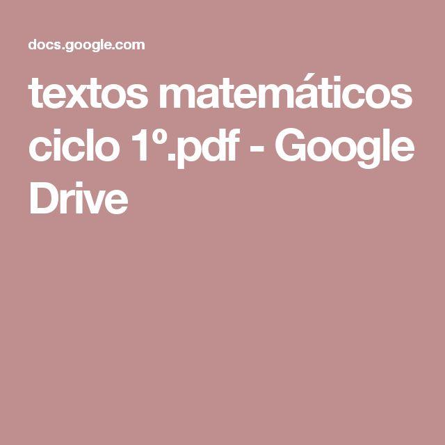 textos matemáticos ciclo 1º.pdf - Google Drive
