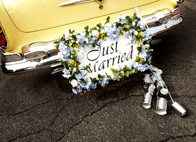 15 best wedding cars images on pinterest wedding cars cars and just married car plate with cans call me old fashioned junglespirit Image collections