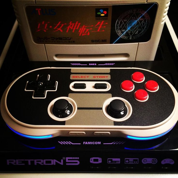 You'd like this one by ruecortina #nes #microhobbit (o) http://ift.tt/1TJdz2V of the best features of the Retron5 is its ability to add translation (.ips) patches to foreign games. Above is Shin Megami Tensei for the Super Famicom in English. Also the 8bitdo NES30 PRO makes a much better controller than the one the Retron5 comes with. Nothing will ever beat playing games on the actual hardware the Retron5 just makes it more convenient.  #retron5 #8bitdo  #superfamicom #famicom #snes…