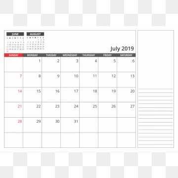 Desk Calendar July 2019 2019 Png Transparent Png And Vector