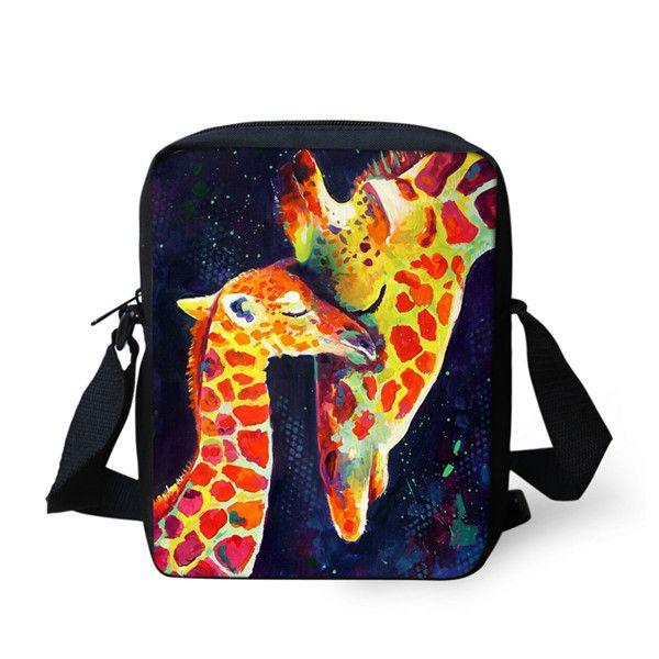 Painting Animals Owl Women Messenger Bag Mini Messenger Bags for Kids Girls Ladies Shoulder Sling Purse Travel Crossbody Bags