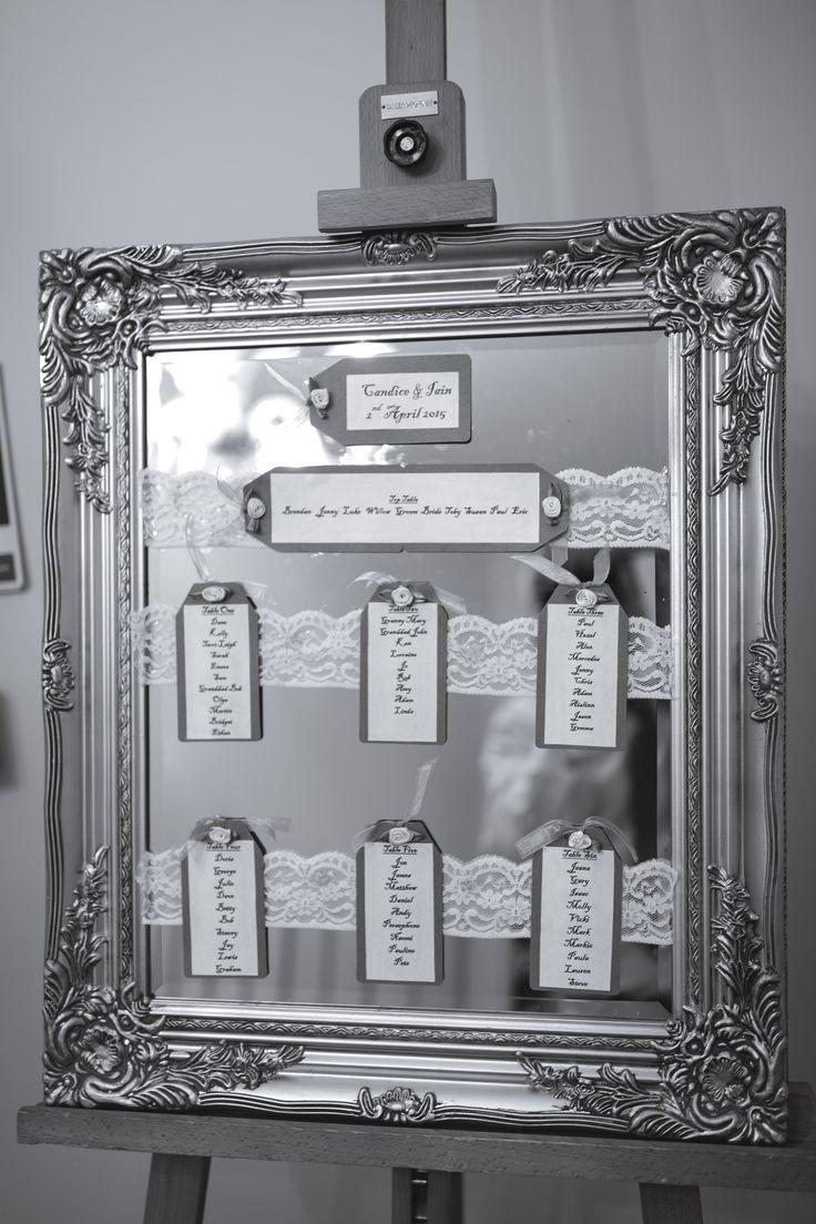 Framed mirror wedding table plan