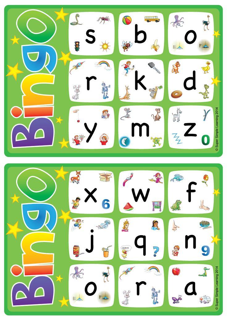 alphabetvocabulary bingo game  lowercase letters az
